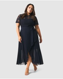 Forever New Curve - Saskia 2-In-1 Pleated Curve Dress
