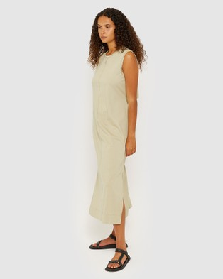 Jag Organic Cotton Open Back Dress - Dresses (green)