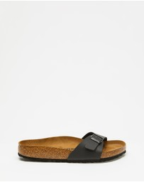 Birkenstock - Womens Madrid Birko-Flor Regular Slides