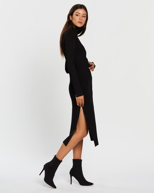 CAMILLA AND MARC Winifred Knit Dress - Bodycon Dresses (Black)