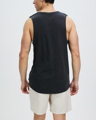 Staple Superior Organic Staple Organic Vintage Muscle - T-Shirts & Singlets (Black)