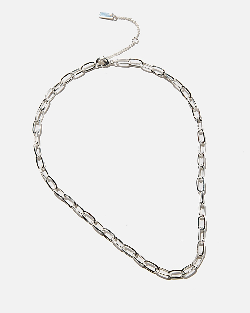 Rubi Premium Single Chain Necklace Jewellery Sterling Silver Plated Open Link