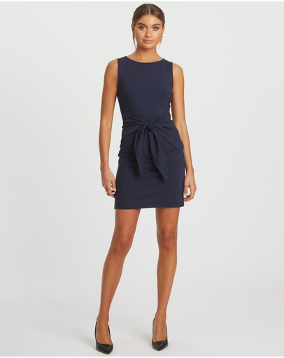 Reux Lucky Tie Dress Navy