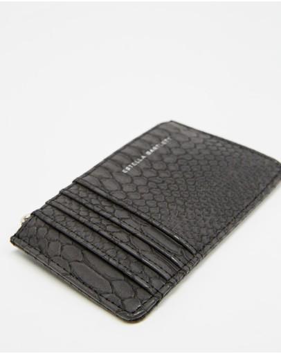 Estella Bartlett Rectangle Card Purse Black Snake