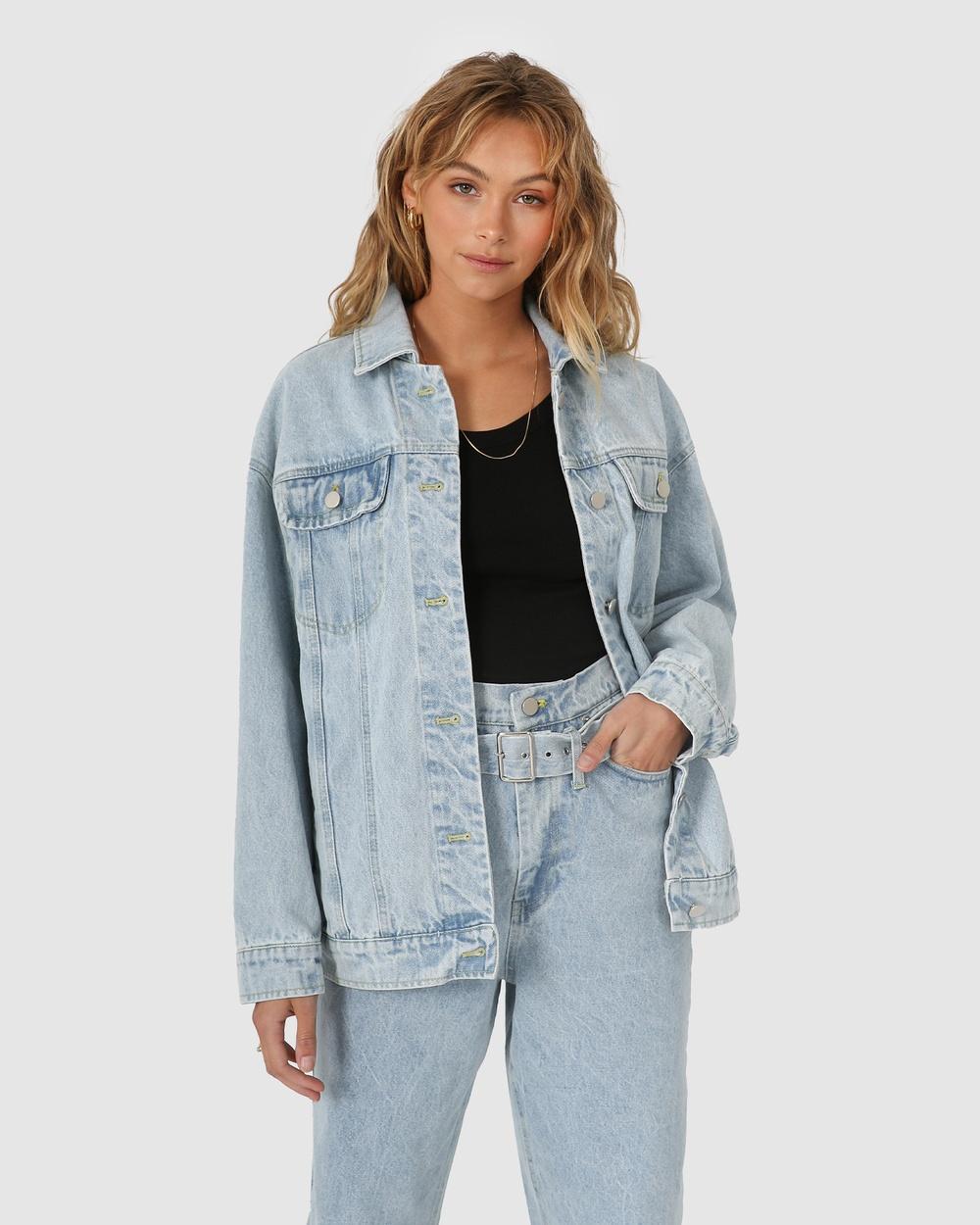 Madison The Label Skye Denim Jacket jacket Blue Australia