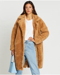 Missguided - Borg Teddy Oversized Coat