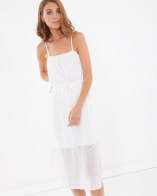 Calli – Donella Drawstring Dress White