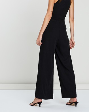 FRIEND of AUDREY Pleated Wide Leg Pants - Pants (Black)