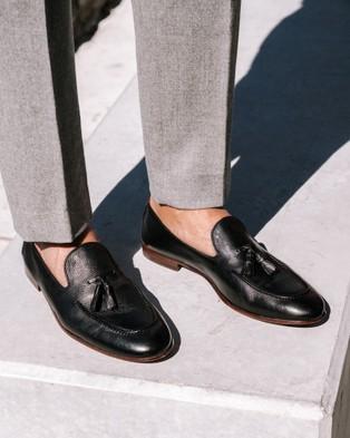 Aquila - Alberto Loafers Flats (Black)