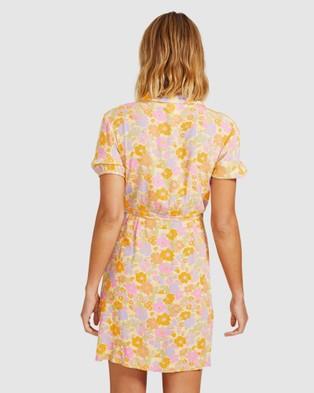 Dont Ask Amanda Naomi Wrap Collar Dress - Dresses (ASSORTED)