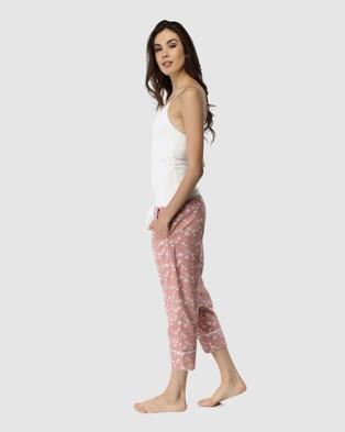Deshabille Sleepwear  Spring Blooms Pants & Cami Set - Two-piece sets (Pink)