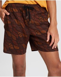 Afends - Saltwater Dreamtime Vol 4 Hemp Elastic Waist Shorts