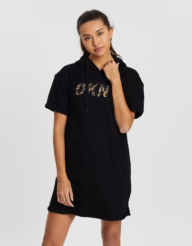 DKNY - Cropped Short Sleeve Sneaker Dress