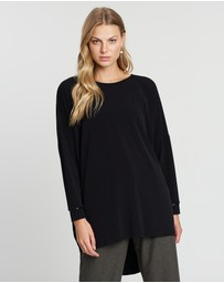 Faye Black Label - Batwing High Low Top