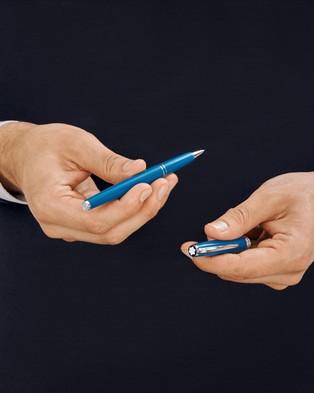 Montblanc PIX Petrol Blue Rollerball Pen - All Stationery (Petrol Blue)