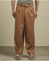 Andersson Bell - Matthew Belted Wide Legged Trousers