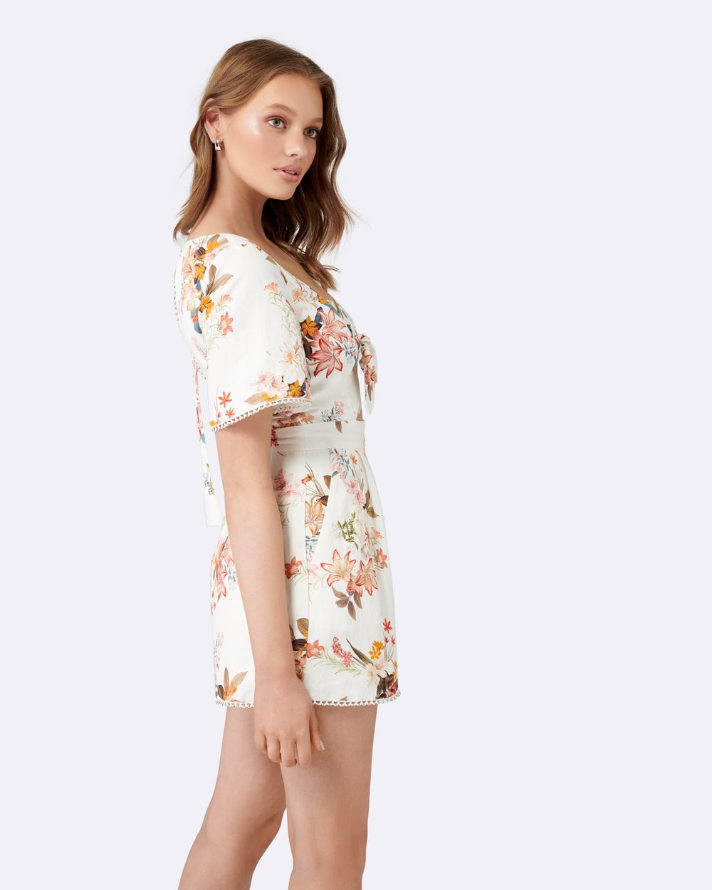 37df0bd17ae7 Shiloh Cut Out Linen Playsuit by Forever New Online