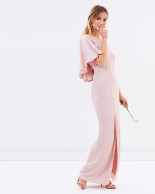 Atmos & Here – Alice Tie Back Maxi Dress – Bridesmaid Dresses (Nude Pink)