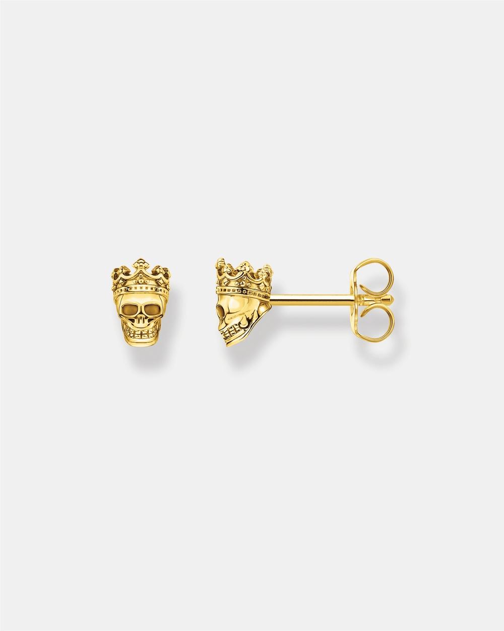 THOMAS SABO Ear Studs Skull Jewellery Gold