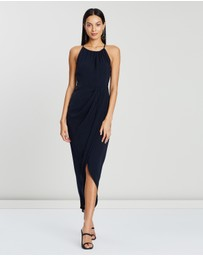 Shona Joy - High Neck Ruched Dress