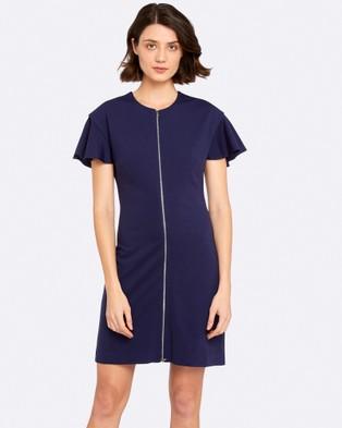 Oxford – Dari Ponti Dress Petrol Blue