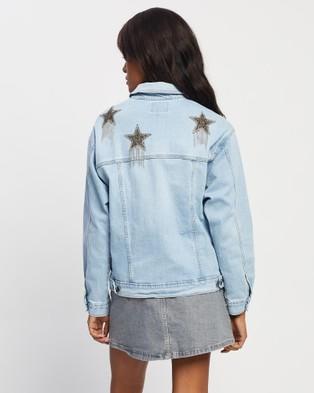 Love and Nostalgia - Showgirl Star Denim Jacket - Denim jacket (Silver) Showgirl Star Denim Jacket