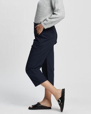 DP Petite Poplin Crop Pants - Pants (Navy)