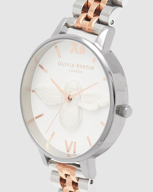 Olivia Burton 3D Bee Two Tone Watch - Watches (Two Tone)