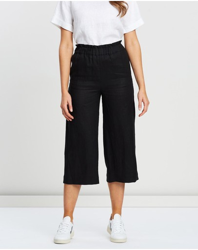 White By Ftl Micah Pants Black