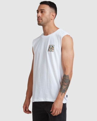 RVCA Va All The Ways Multi Muscle T-Shirts & Singlets FLORAL