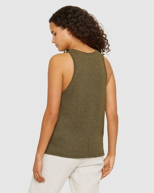 Jag Coco Knit Tank - Jumpers & Cardigans (green)