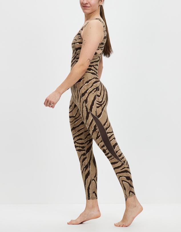 Women Feline Print Jumpsuit
