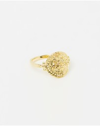 By Charlotte - Small Lotus Rising Ring