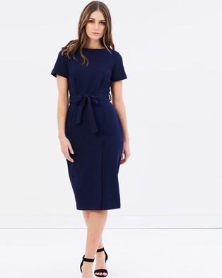 Dorothy Perkins – Crepe Wrap Pencil Dress Navy