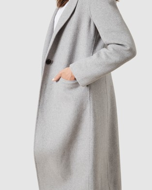 French Connection Wool Blend Coat - Coats & Jackets (SOFT GREY)