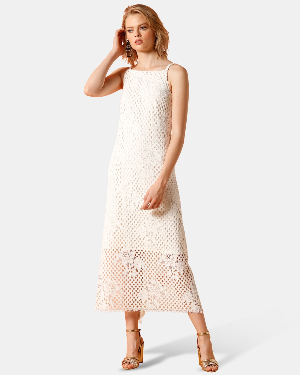 SACHA DRAKE White Vista Point Dress