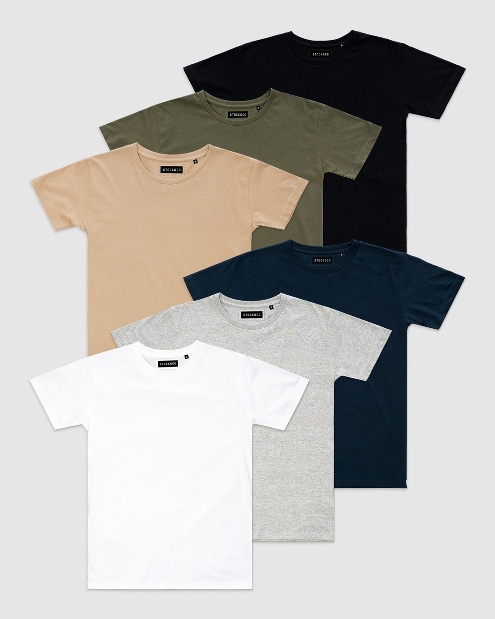 Stock & Co. - 6 Pack Stock Tee   Teens - T-Shirts & Singlets (MULTI) 6-Pack Stock Tee - Teens