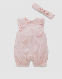 Purebaby - Shortalls with Headband - Babies