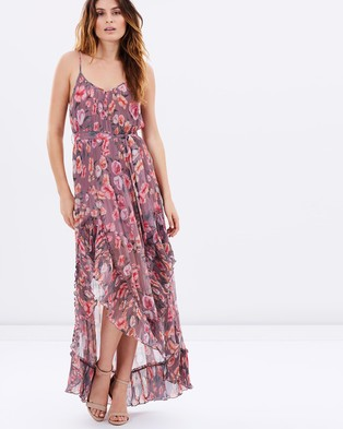 We Are Kindred – Maggie Pleat Maxi – Dresses (Blush Blossom)