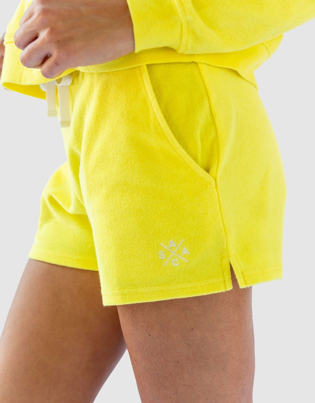 Women Andy Cohen Yellow Terry Shorts