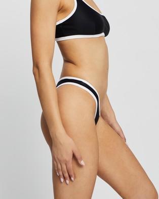 IT'S NOW COOL THE SIGNATURE DUO PANT - Bikini Bottoms (Black & White)