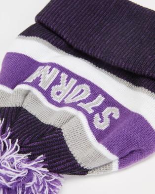 New Era NRL Knit Beanie Melbourne Storm Headwear Purple