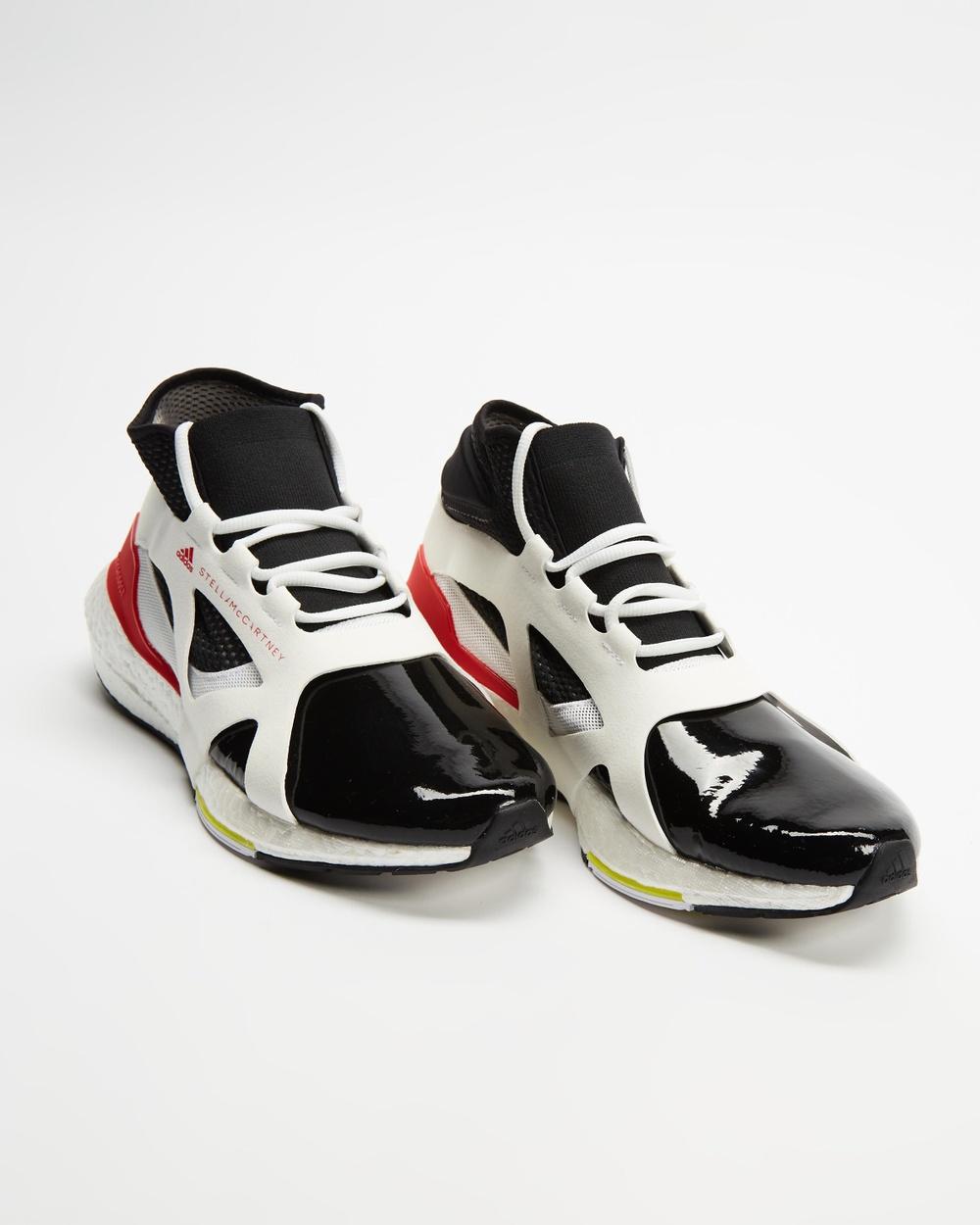 adidas by Stella McCartney Ultraboost 21 Women's Performance Shoes White, Core Black & Vivid Red