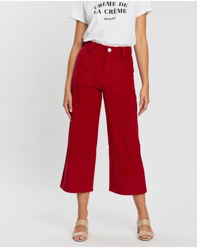 Charlie Holiday Ha Long Bay Pants Red