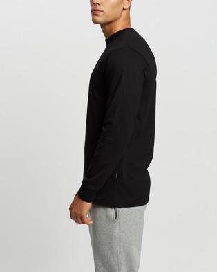Mr Simple - Heavy Weight Long Sleeve Tee - T-Shirts & Singlets (Black) Heavy Weight Long Sleeve Tee