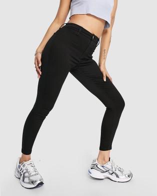 TOPSHOP Petite PETITE Joni Jeans - High-Waisted (Black)
