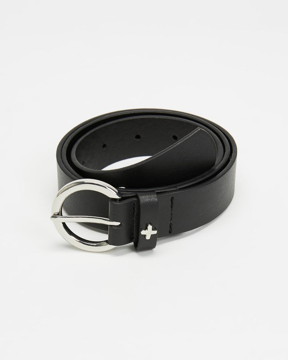 PETA AND JAIN Sinatra Belts Black & Silver