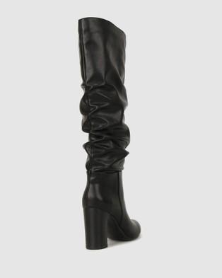Betts - Kristy Block Heel Knee Boots Knee-High (Black)