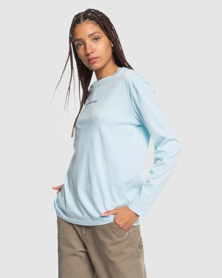 Quiksilver - Womens Standard Organic Long Sleeve T Shirt - Long Sleeve T-Shirts (CRYSTAL BLUE) Womens Standard Organic Long Sleeve T-Shirt