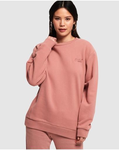 Superdry Orange Label Elite Crew Sweatshirt Smoke Rose